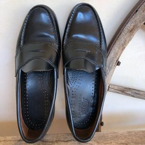 WEEJUNS Black Leather Loafers Men's HANDMADE USA
